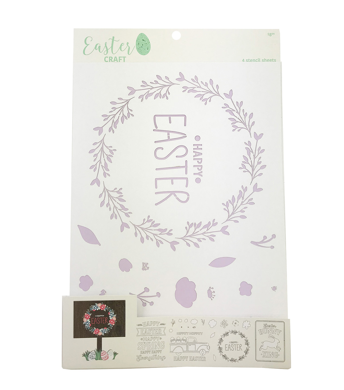 Easter Craft 4pk Stencil Sheets-Happy Easter