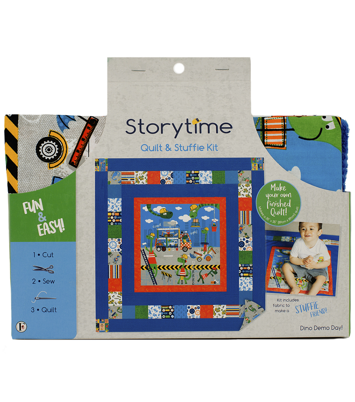 Storytime Quilt & Stuffie Kit-Dino Demo Day
