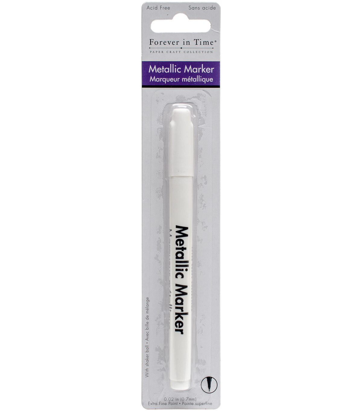 Multicraft Imports Forever in Time 0.7 mm Metallic Marker-White