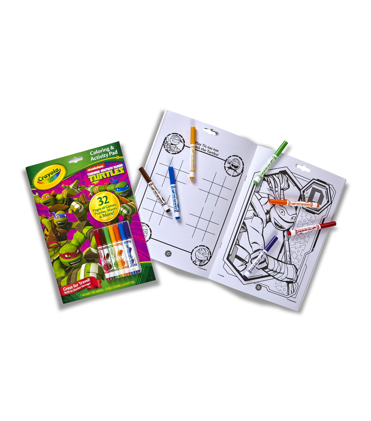 Crayola Coloring And Activity Pad W/Markers-Teenage Mutant Ninja Turtles