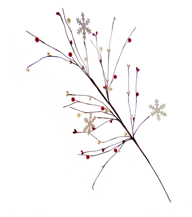 Blooming Holiday Christmas 28\u0027\u0027 Berry & Snowflake Spray-Red & White