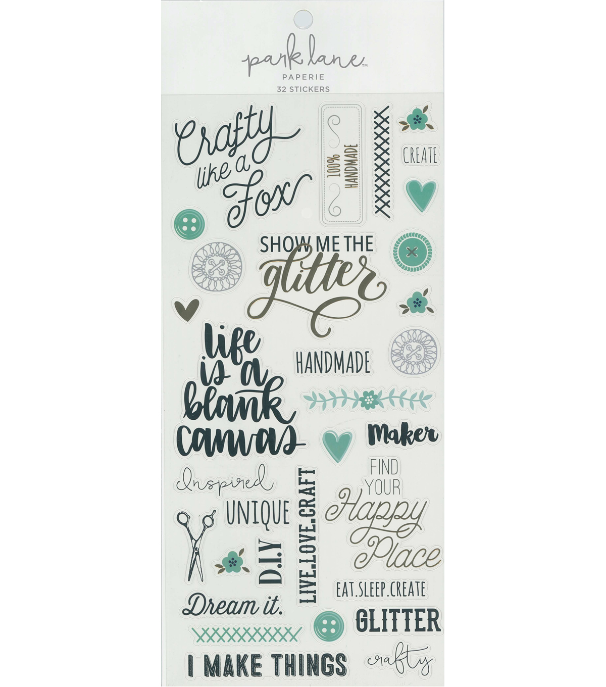 Park Lane Paperie 32 pk Stickers-DIY