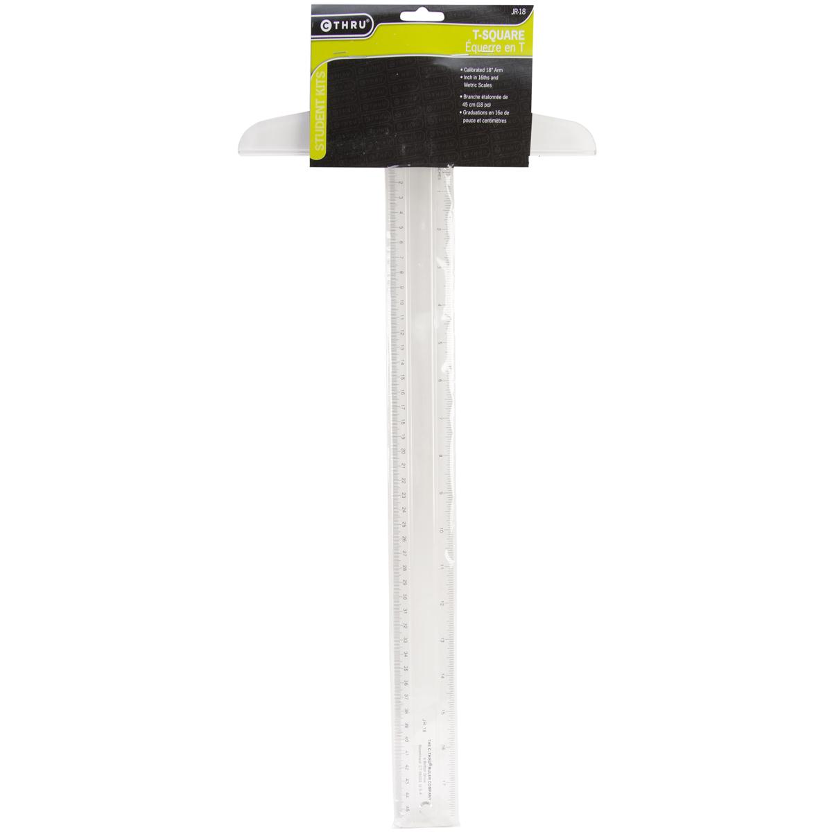 C-Thru Jr-18 18Inch Plastic T-Square