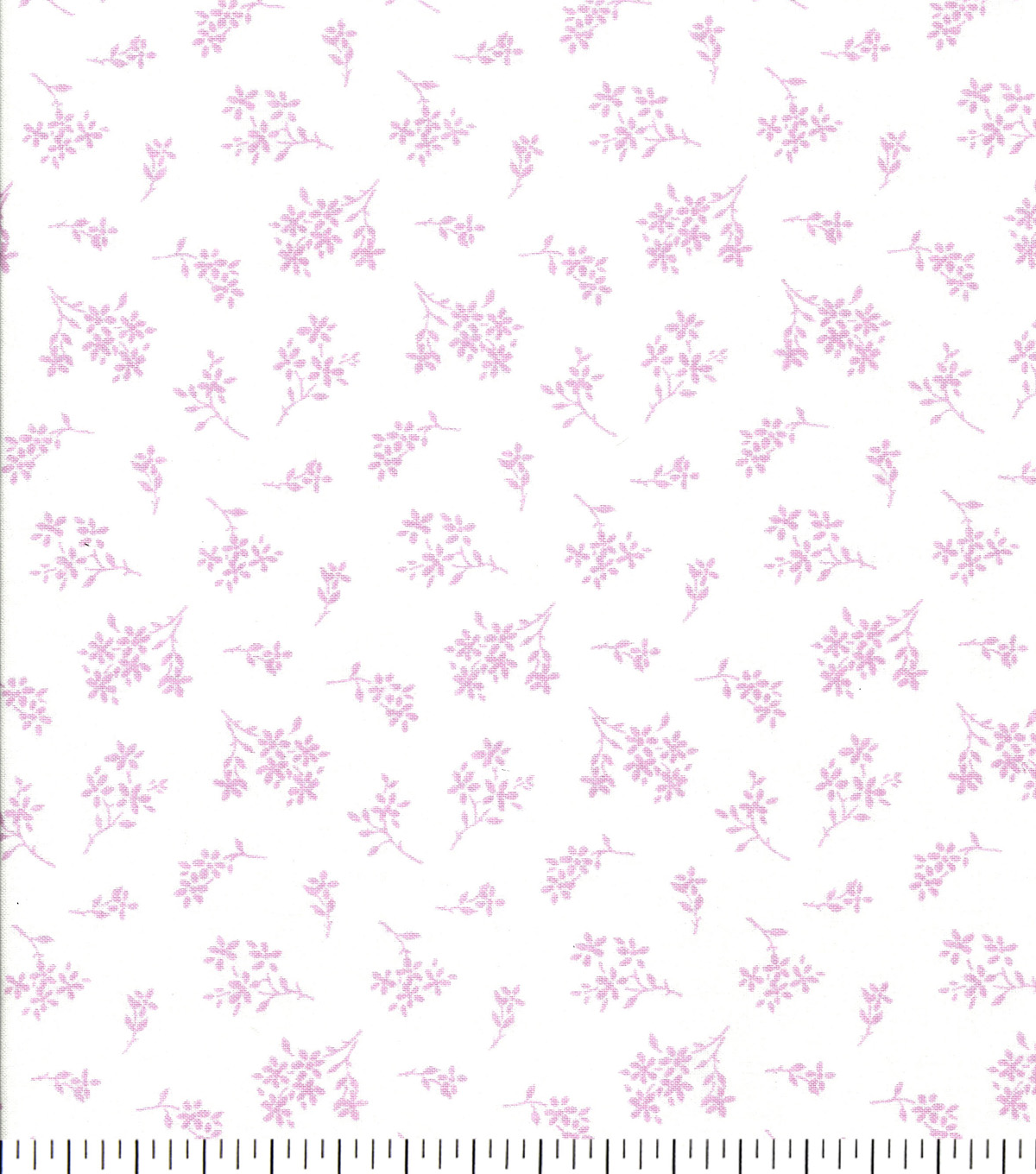 Quilter\u0027s Showcase Cotton Fabric 44\u0022-Opera Mauve Tossed Ditsy Floral