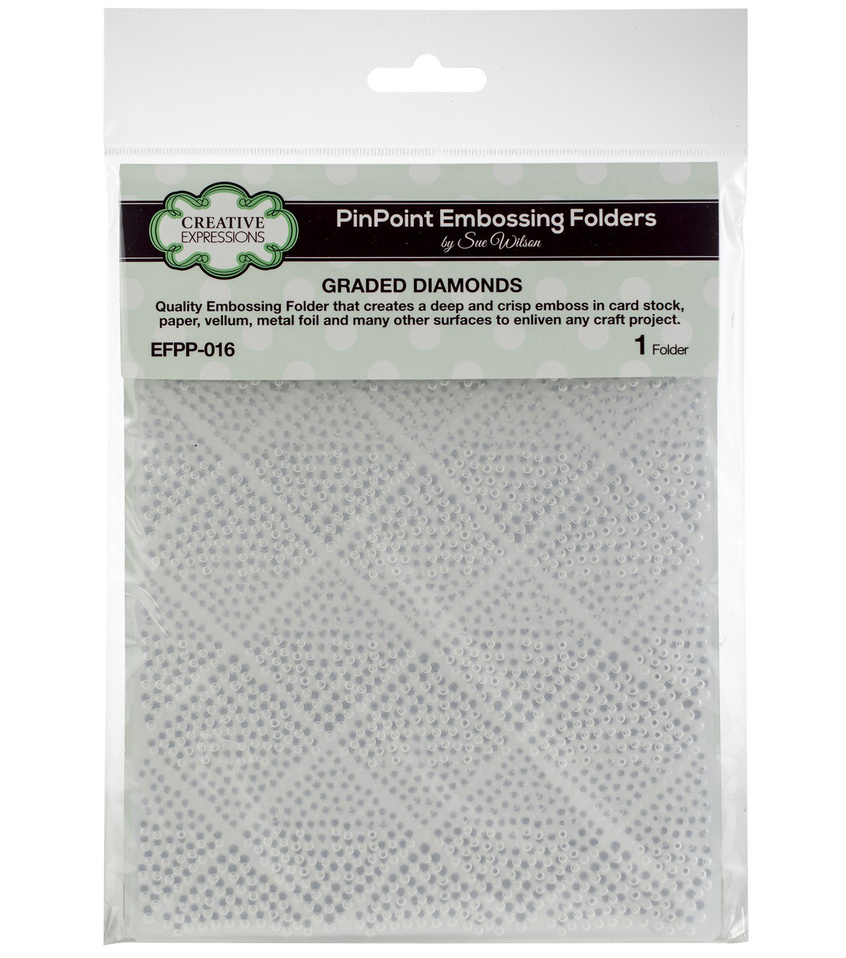 Creative Expressions Embossing Folder 5.75\u0022x7.5\u0022-Graded Diamonds