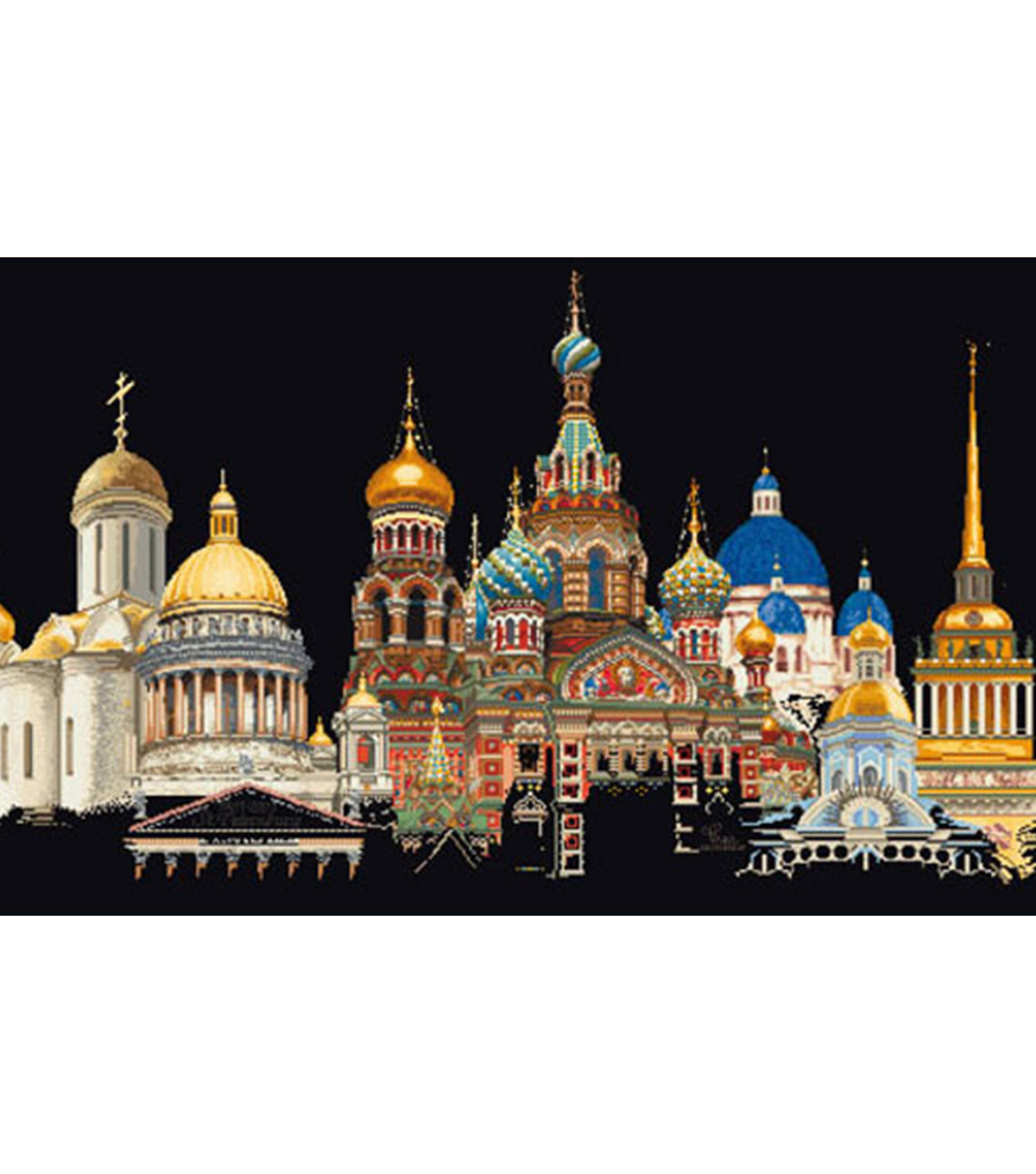 St. Petersburg On Aida Counted Cross Stitch Kit 18 Count