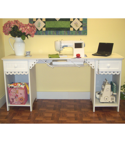 white dp amazon sewing cabinet arrow table com desk