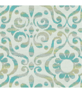 Dancing Damask/reef Swatch