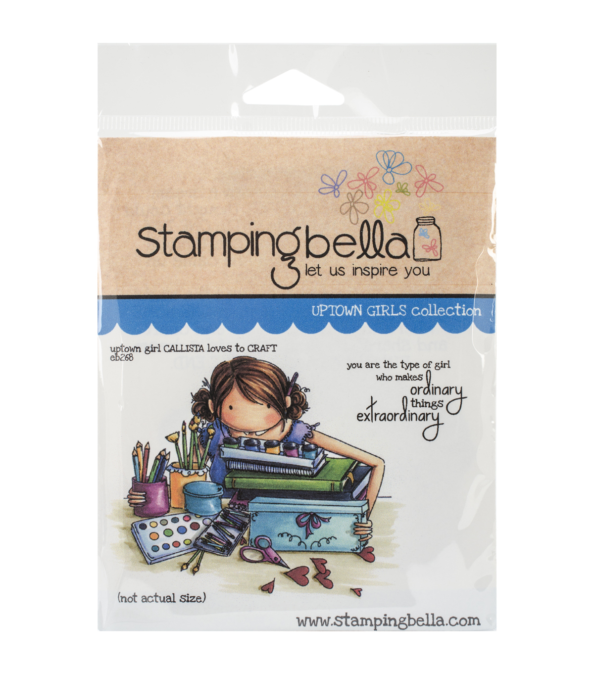 Stamping Bella Uptown Girl Callista Loves To Craft Cling Rubber Stamp