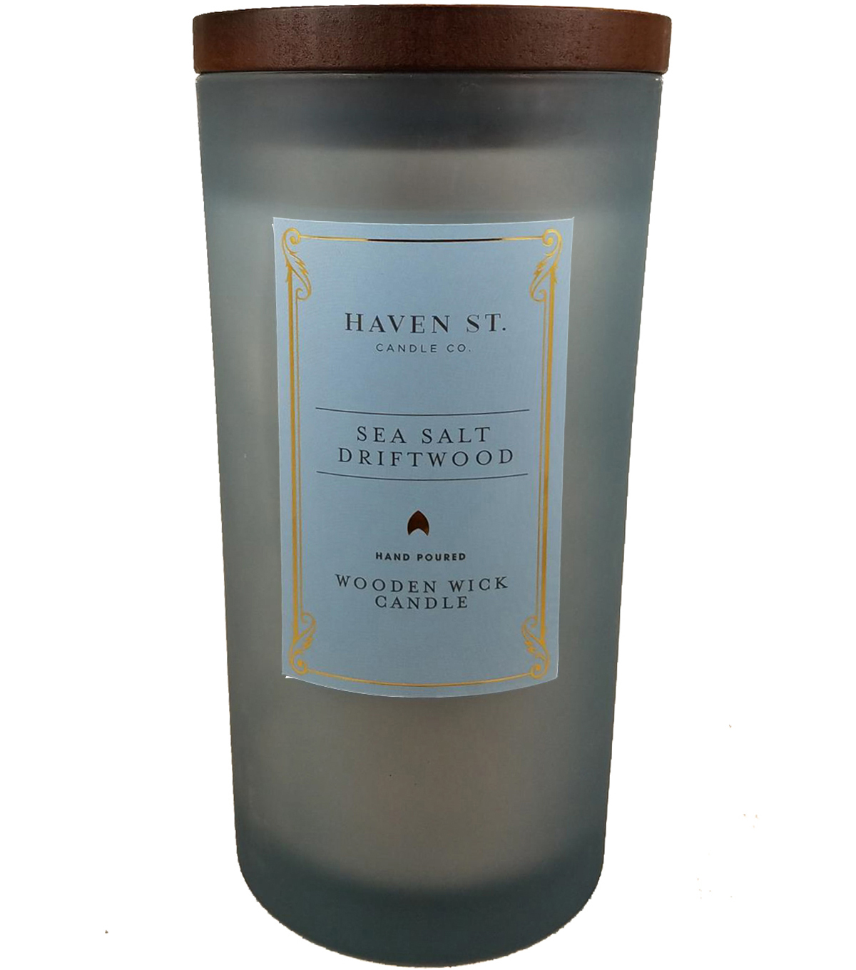 Haven St. Candle Co. 11 oz. Sea Salt Driftwood Scented Jar Candle