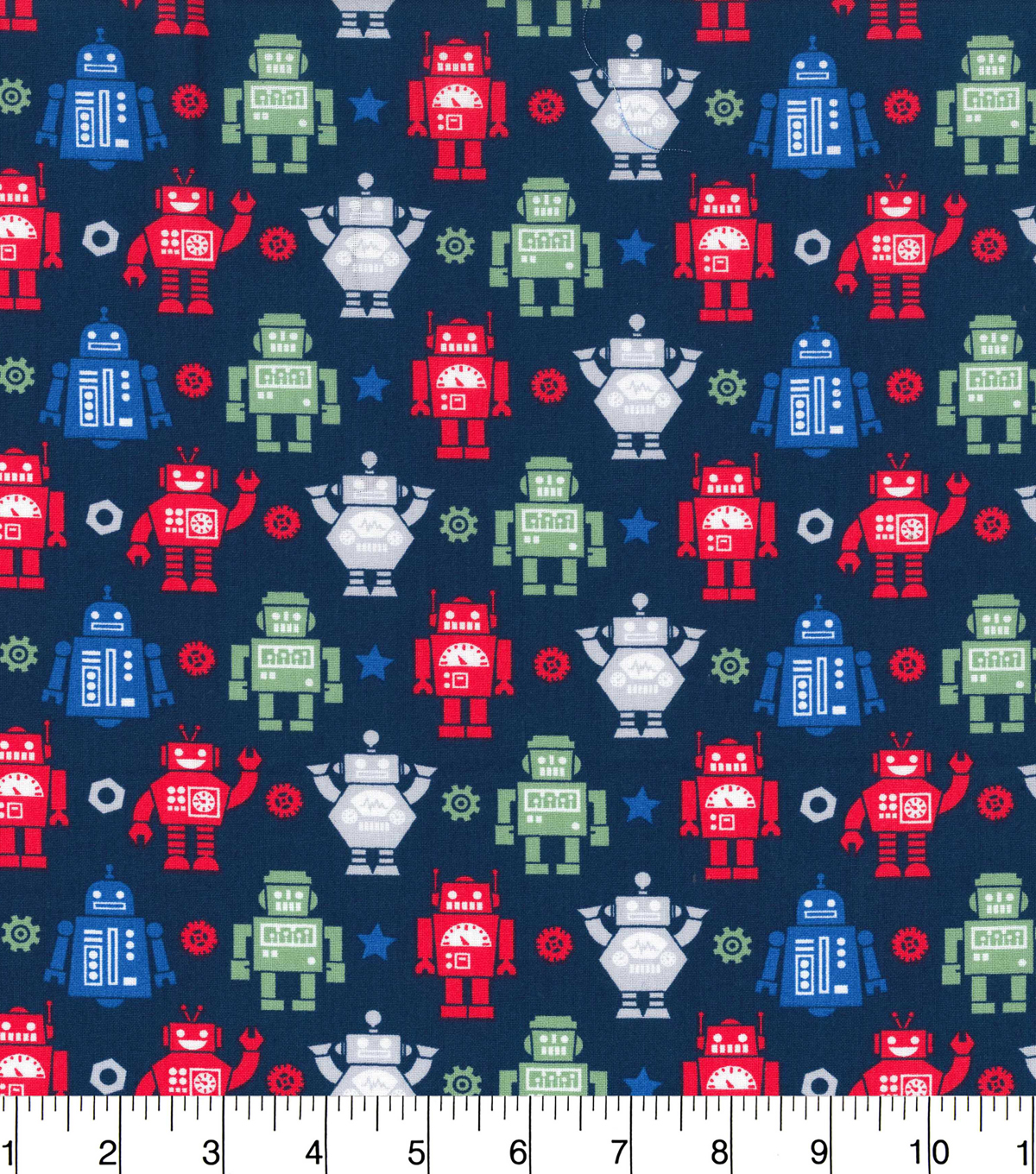 Novelty Cotton Fabric -Robots