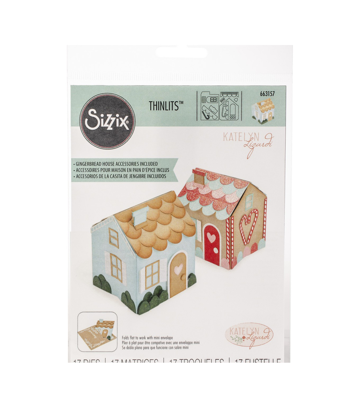 Sizzix Thinlits Dies By Katelyn Lizardi 17/Pkg-Mini Pop-Up House