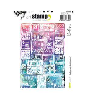 Carabelle Studio Art Alexi A6 Cling Stamp-Collage with Labels