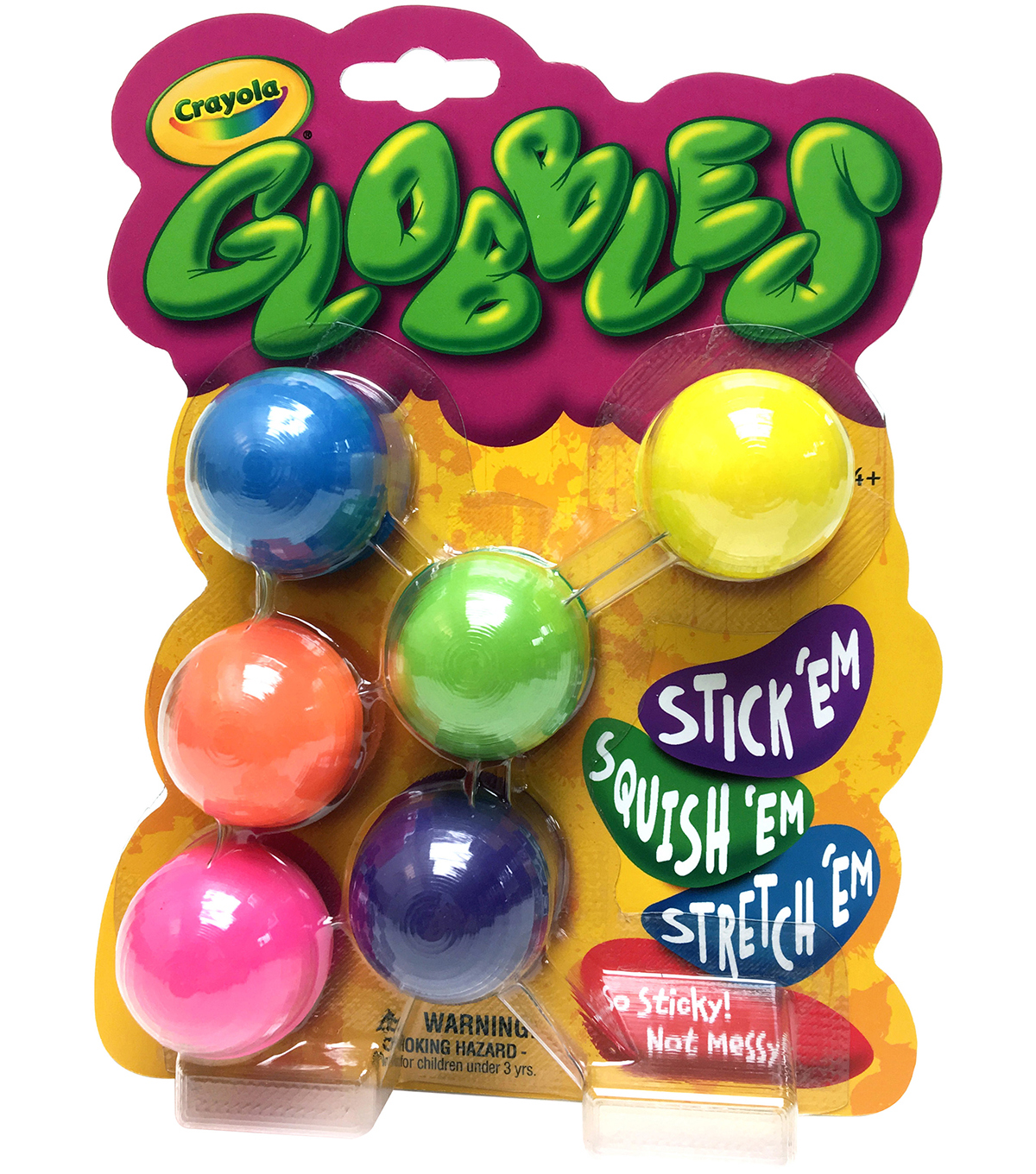 Crayola Globbles 6/Pkg-Assorted Colors