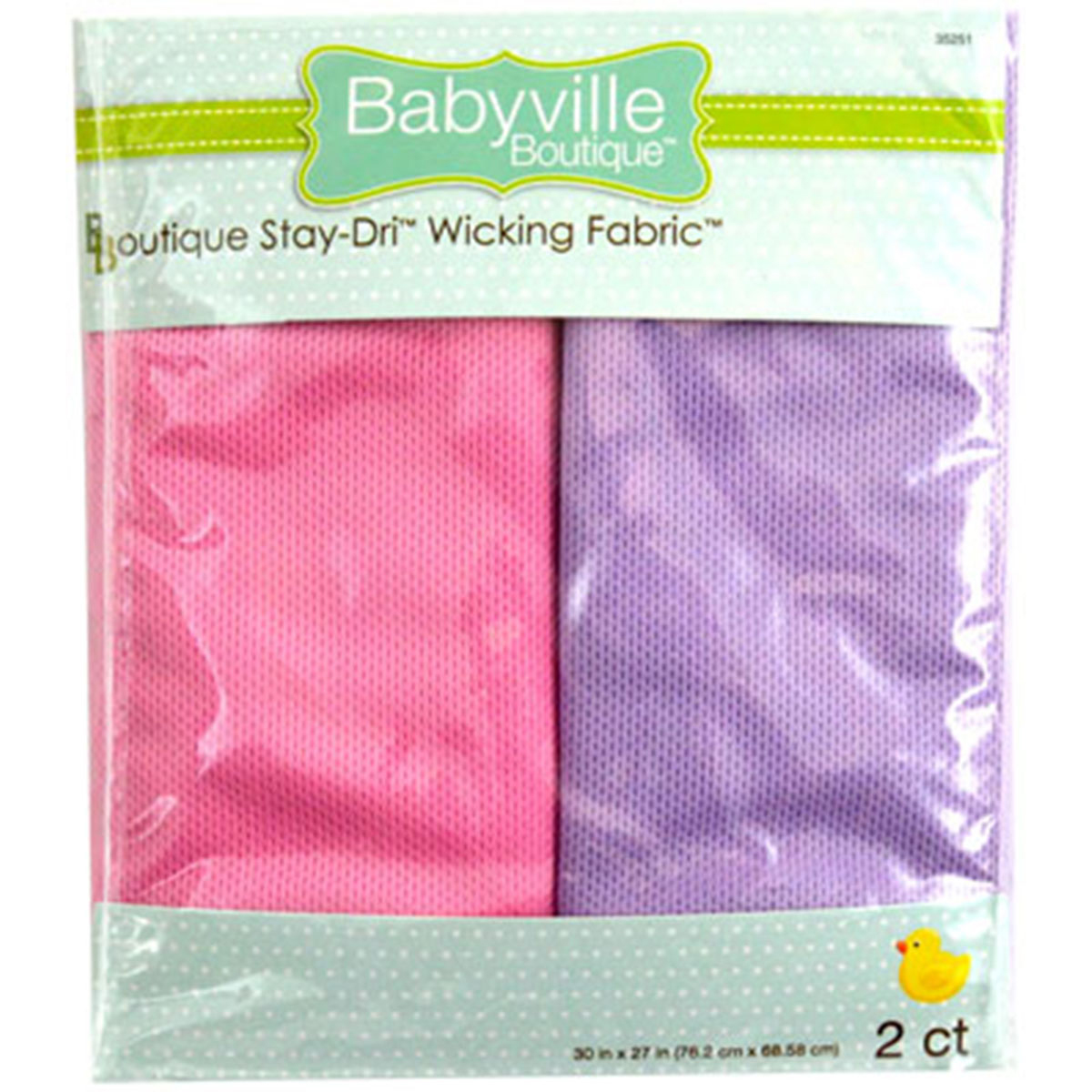 Babyville Boutique 30\u0022 x 27\u0022 Wicking Fabric Pink Lavender