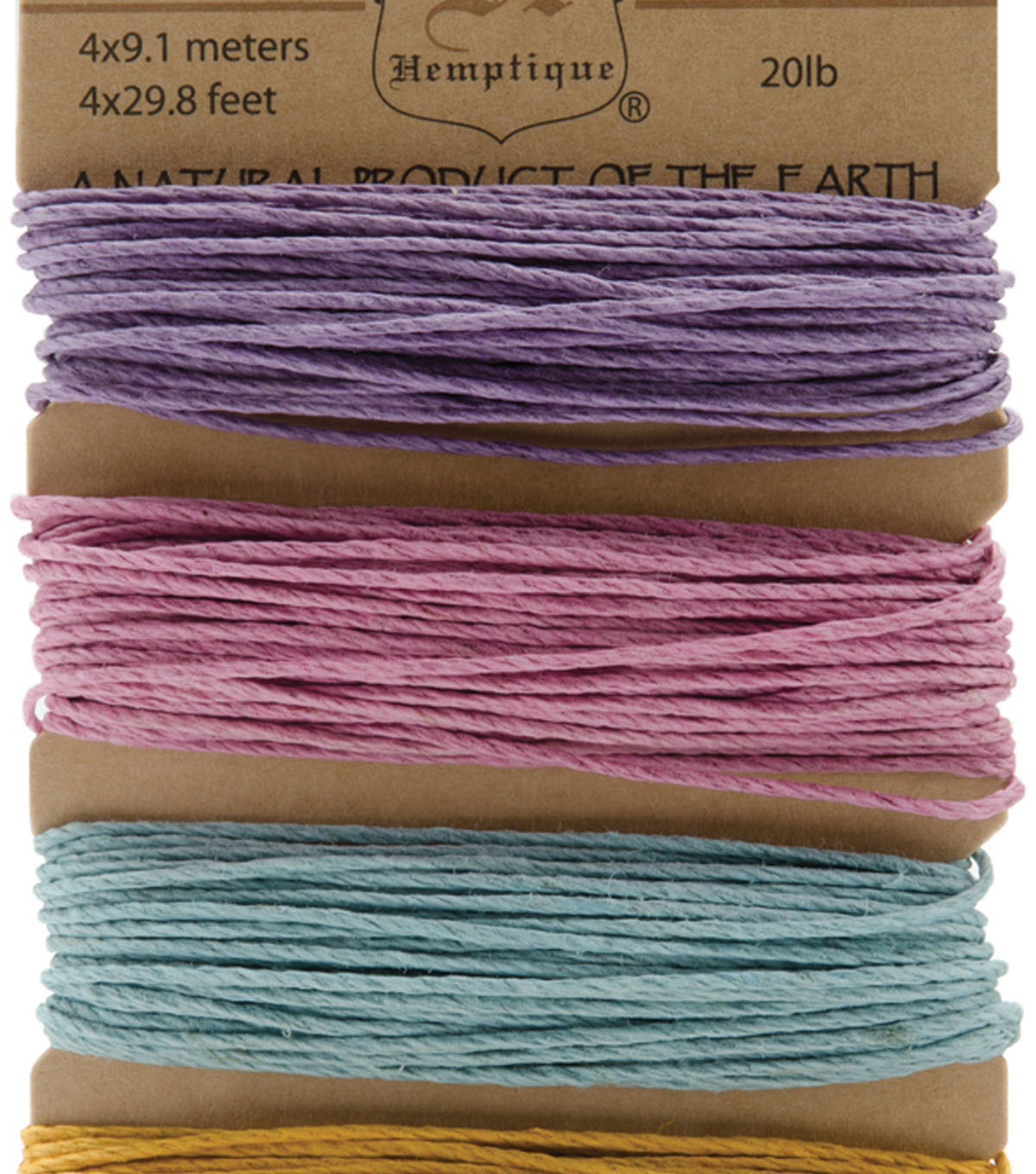 Hemptique #20 120\u0027 Hemp Cord Card-Pastel