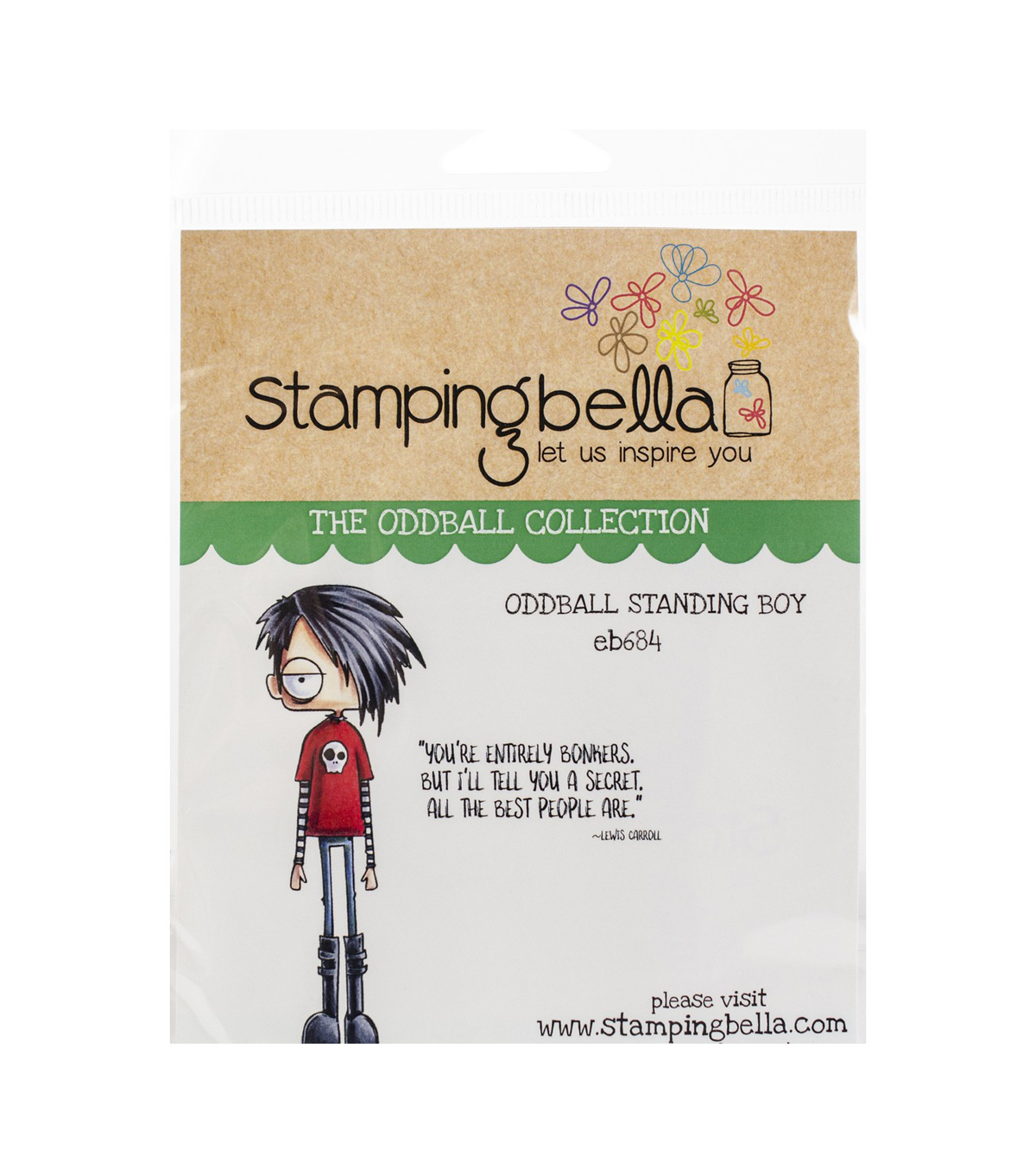 Stamping Bella 2 pk Rubber Cling Stamps-Oddball Standing Boy