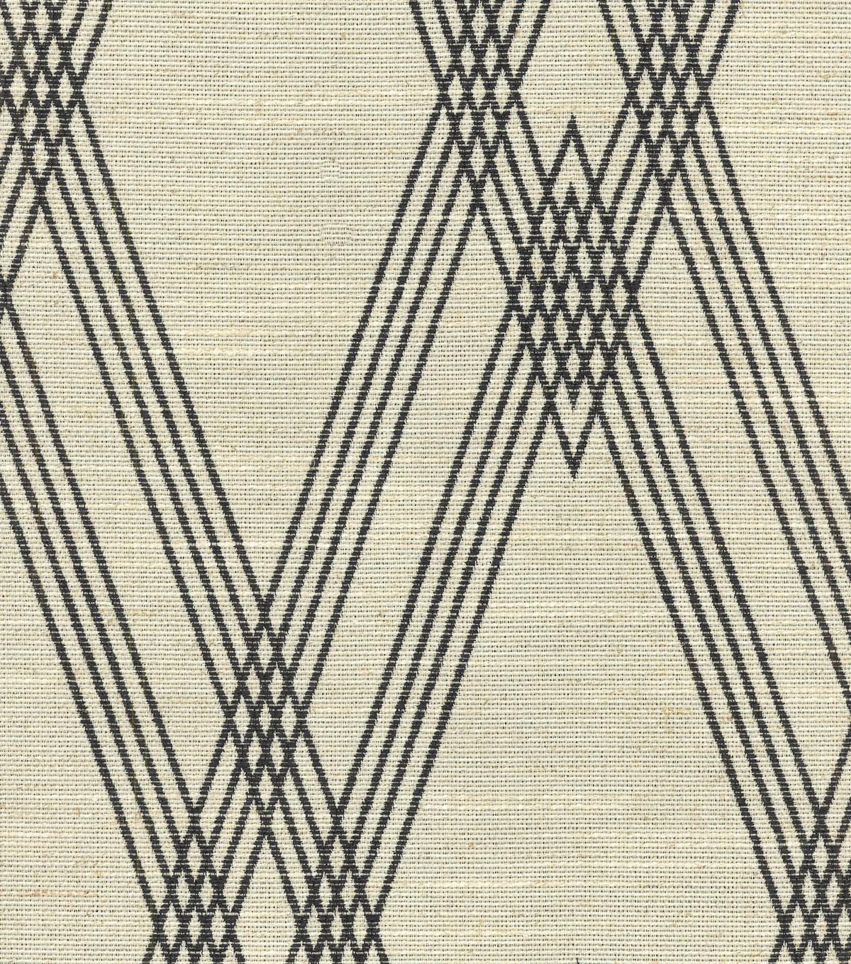 Nate Berkus Upholstery Fabric-Wareham Black/Bone