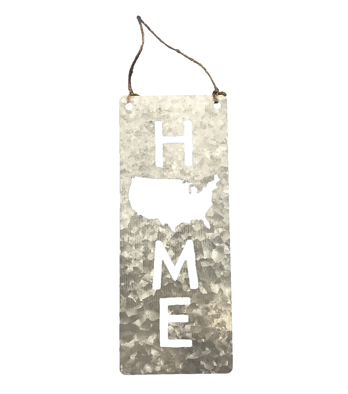 Camp Ann Crafts Galvanized Vertical Home Sign