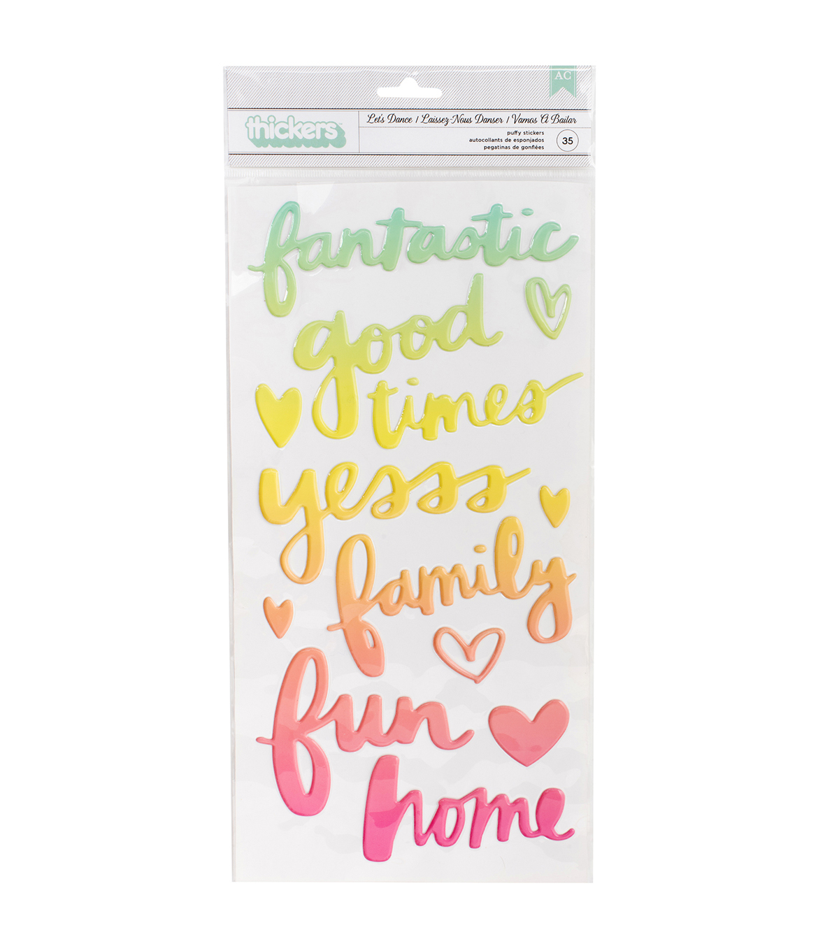 American Crafts Thicker Stickers-Ombre Phrases