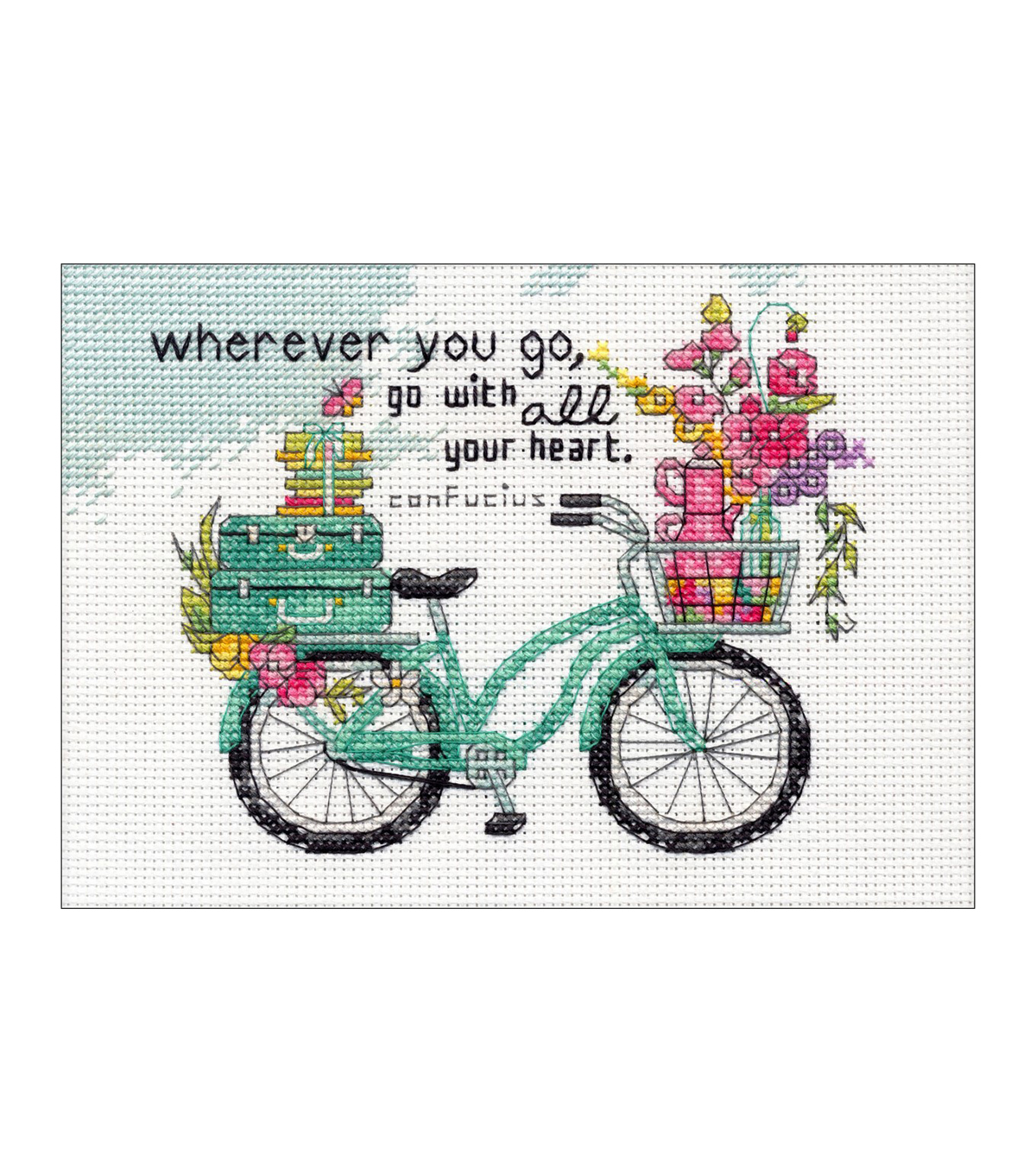 Dimensions Counted Cross Stitch Kit 7\u0022X5\u0022-Wherever You Go