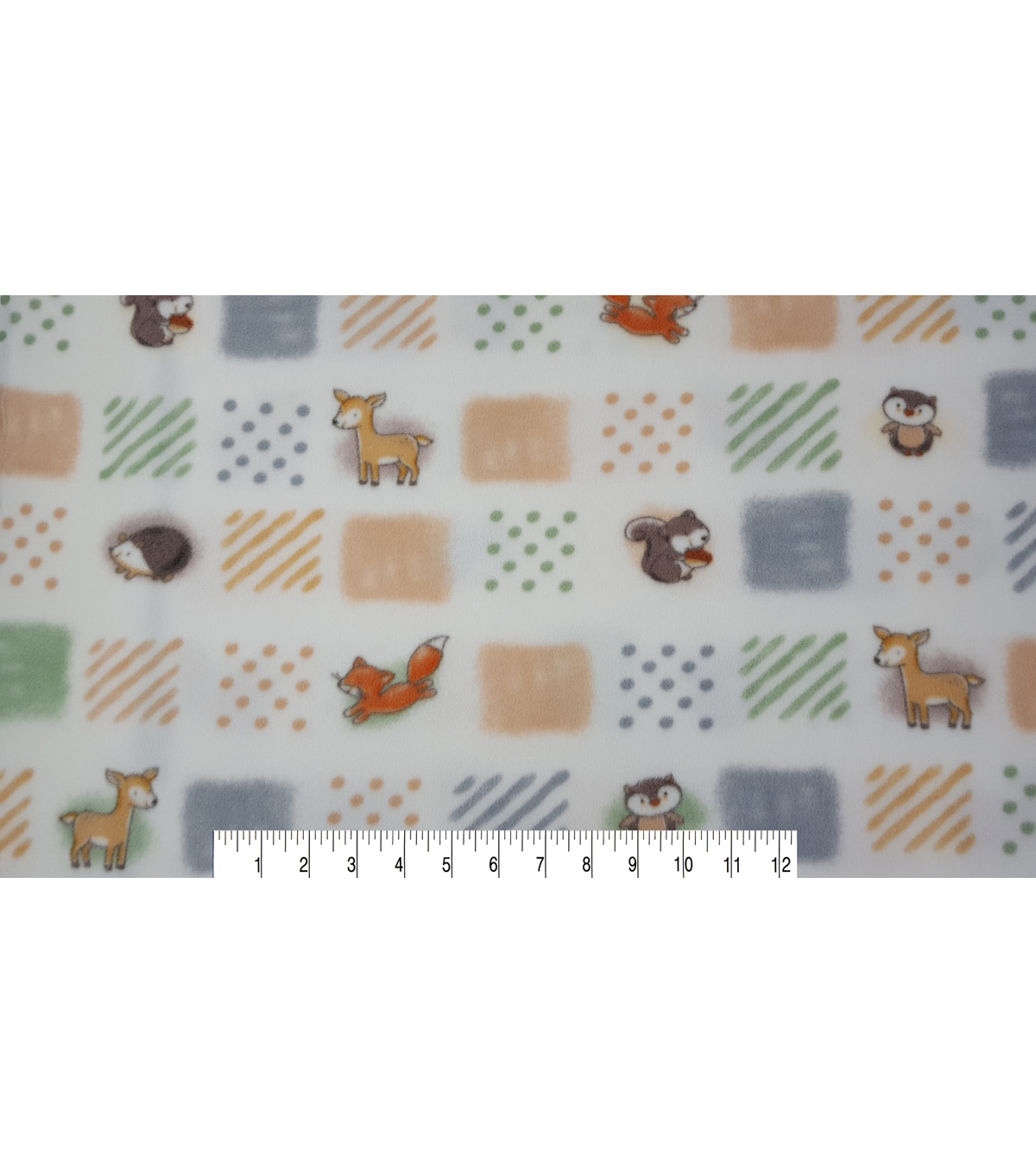 Nursery Fleece Fabric -Safari Patchwork