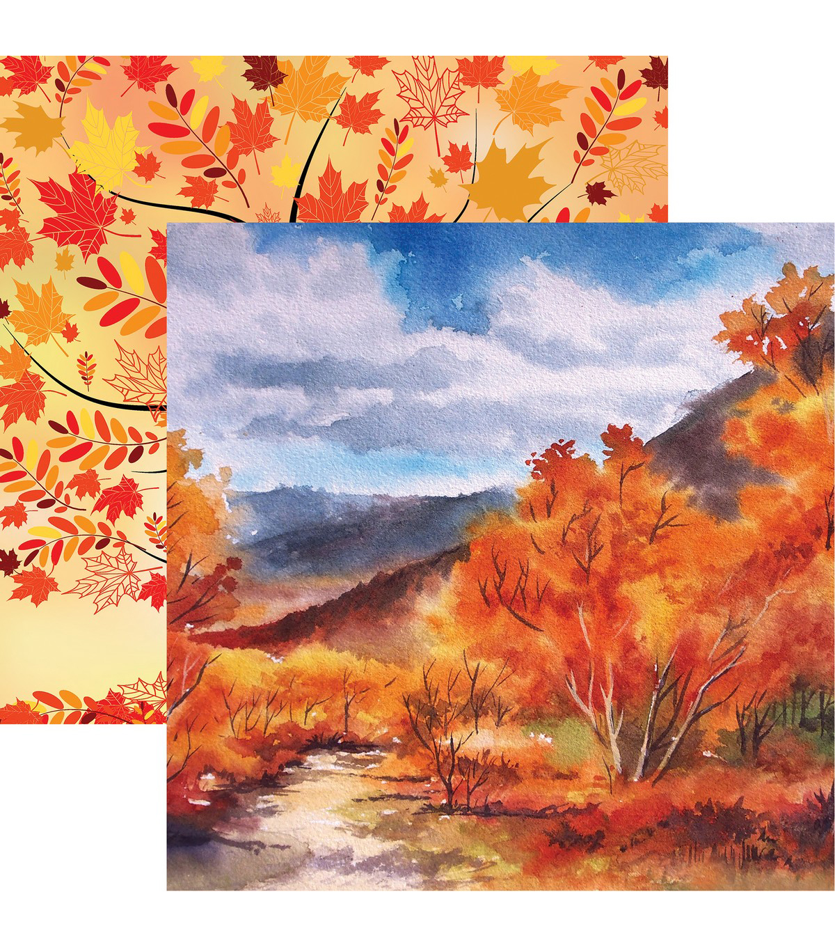 Autumn Splendor Double-Sided Cardstock 12\u0022X12\u0022-Autumn Leaves
