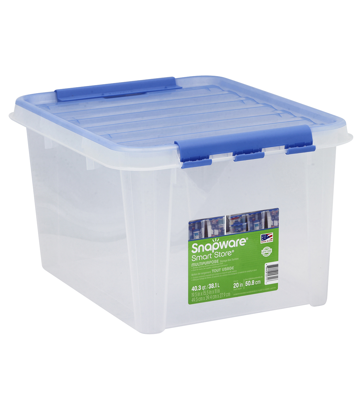 Smart Store Plastic Storage With Lid 20X