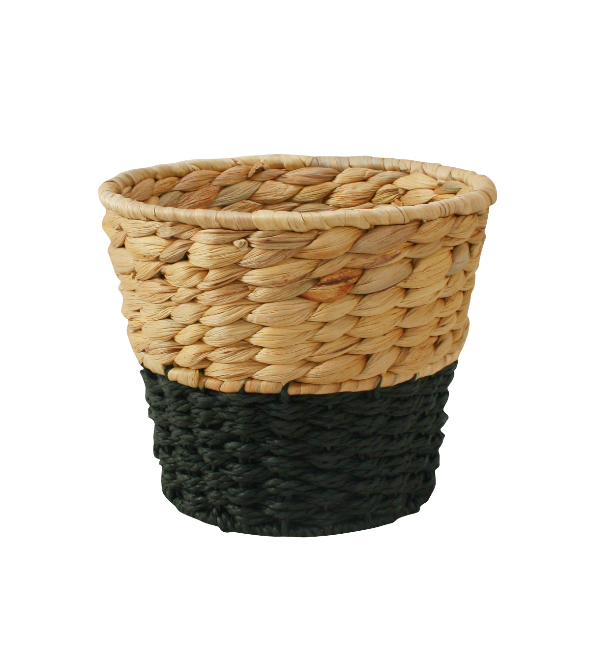 In the Garden Round Basket-Natural & Black