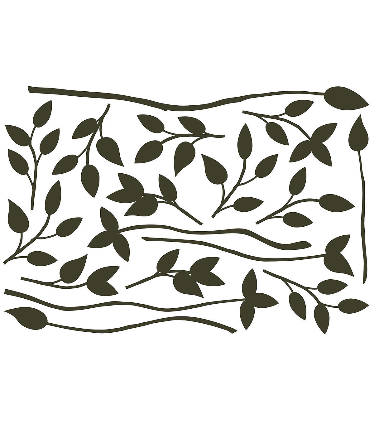 Home Decor Black Branches Wall Stickers, 17 Piece Set