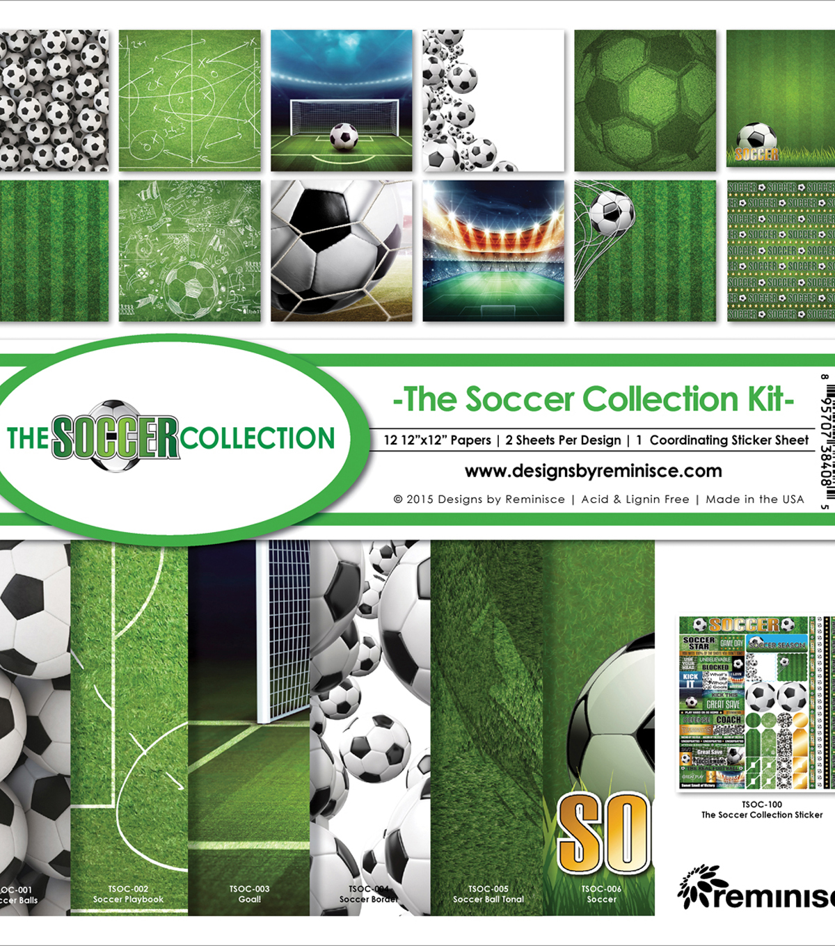 Reminisce Soccer 12\u0027\u0027x12\u0027\u0027 Collection Kit