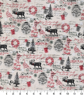 Christmas Cotton Fabric-S. Claus Farms