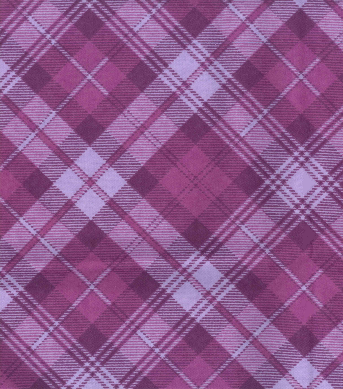 Snuggle Flannel Fabric -Radiant Orchid Plaid
