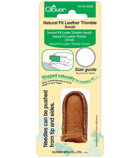 Natural Fit Leather Thimble-Small
