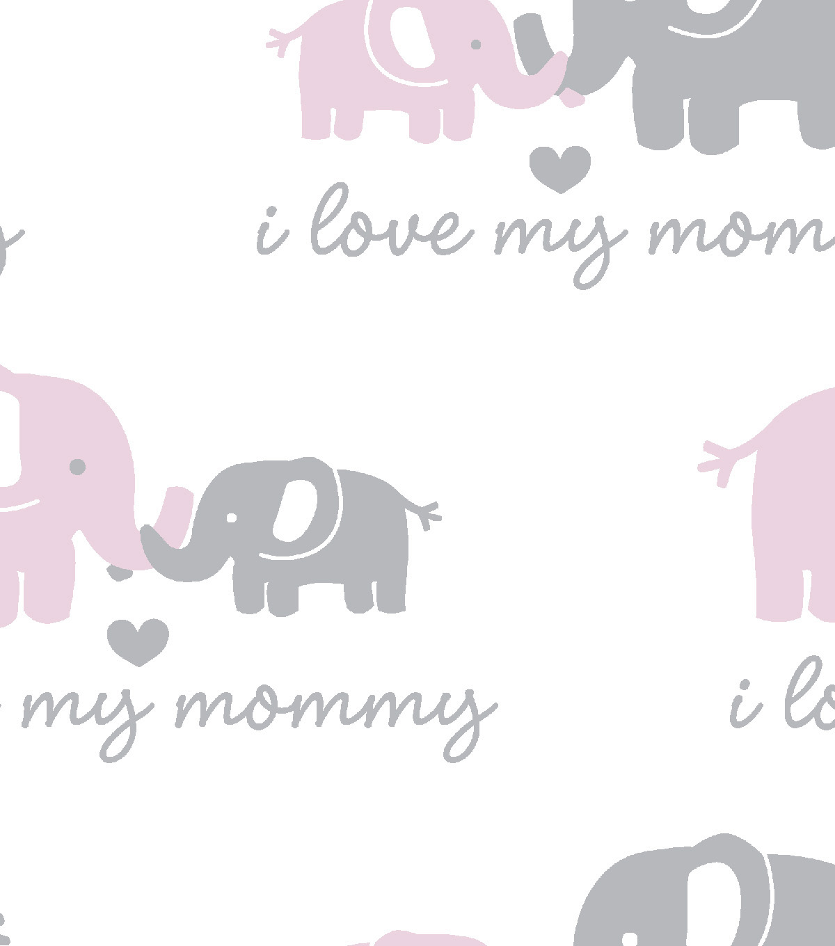 Snuggle Flannel Fabric -Love Mommy Pink