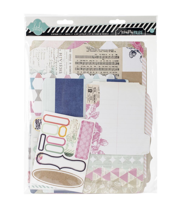 Heidi Swapp Mixed Media Scrapbook Album Kit 9x115 Cardstock
