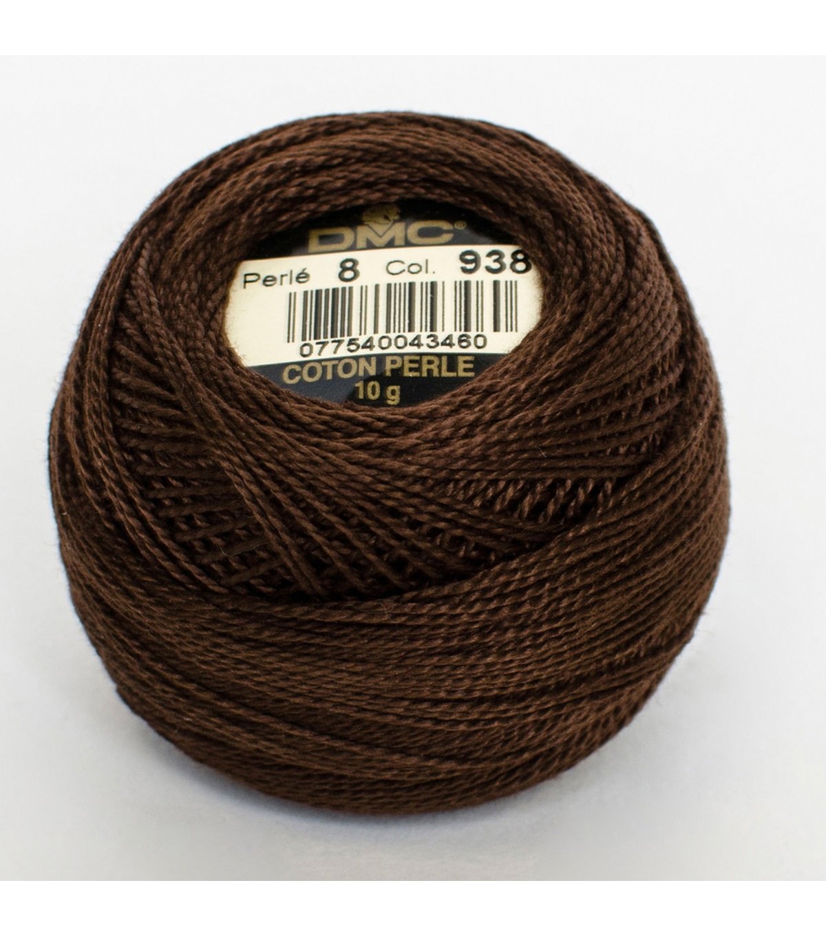 DMC Pearl Cotton Balls Thread 87 Yds Size 8, Dark Coffee Brown