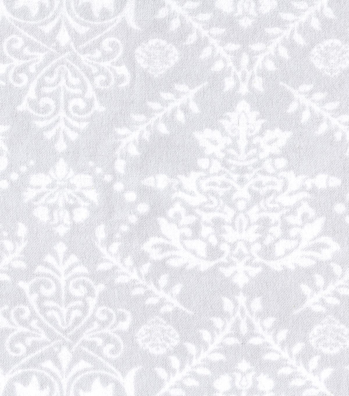 Snuggle Flannel Fabric -Mint Damask
