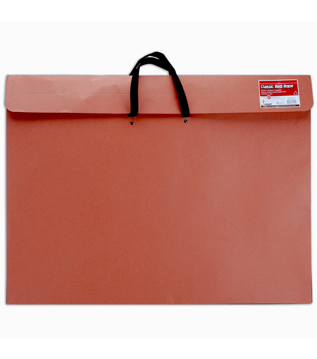 Red Rope Paper Portfolio W/Soft Handle 23\u0022x31\u0022-Red