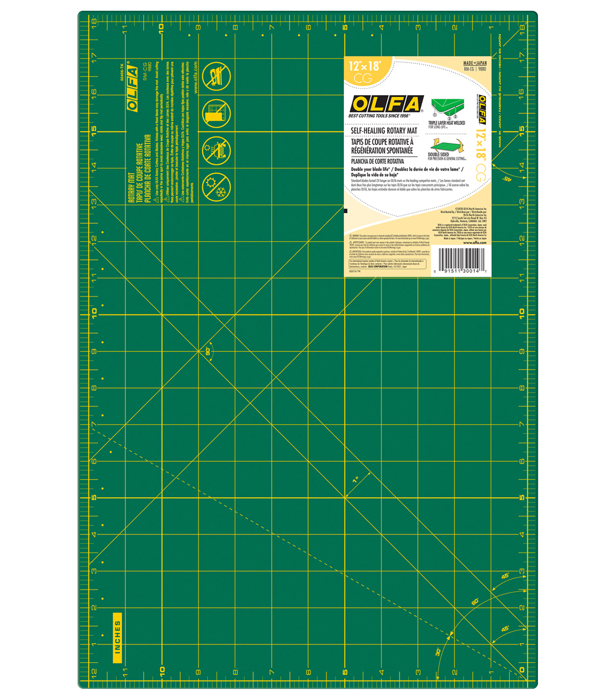 Olfa Gridded Cutting Mat 12\u0022 x 18\u0022