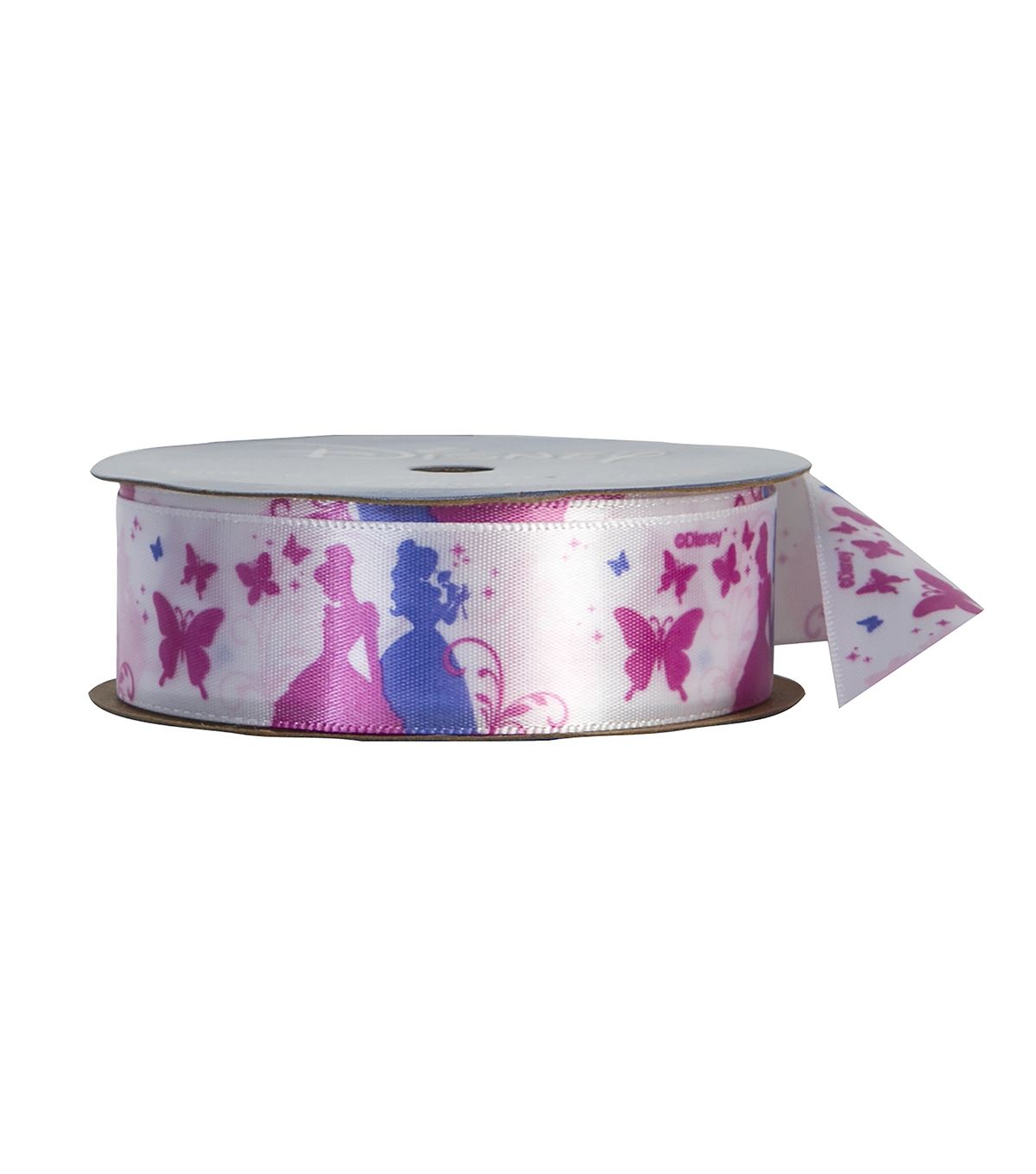 Offray 7/8\u0022x9\u0027 Disney Princess Character Single Faced Satin Ribbon-Pink