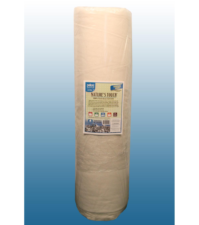 "Pellon Natural Cotton W// Scrim Batting Roll Lightweight Durable Soft 90/"" x 25 yd"