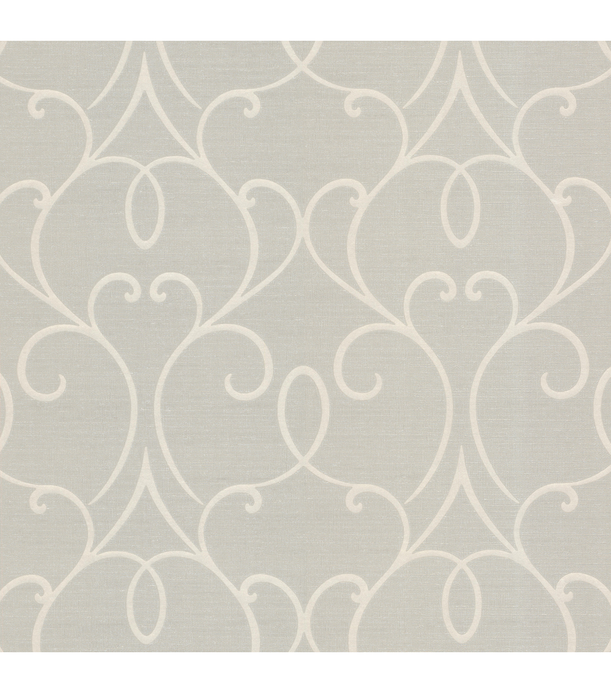 Mila Taupe Mini Classical Wallpaper Sample