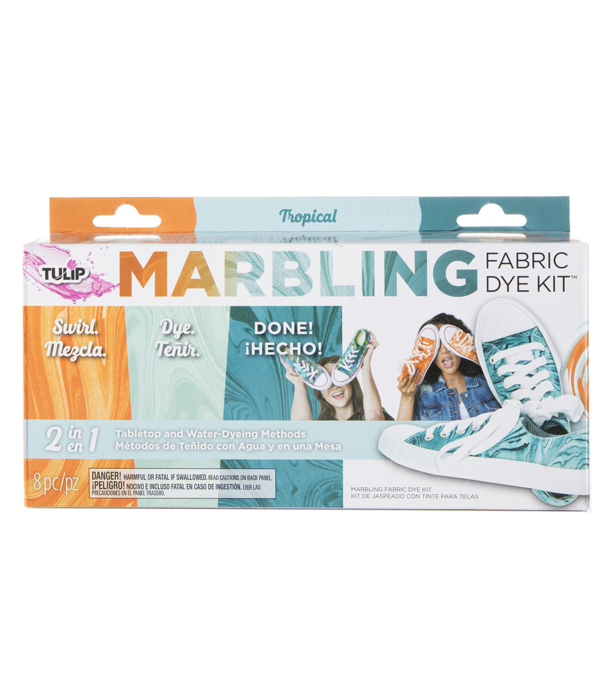 Tulip 8 pk Marbling Fabric Dye Kit-Tropical
