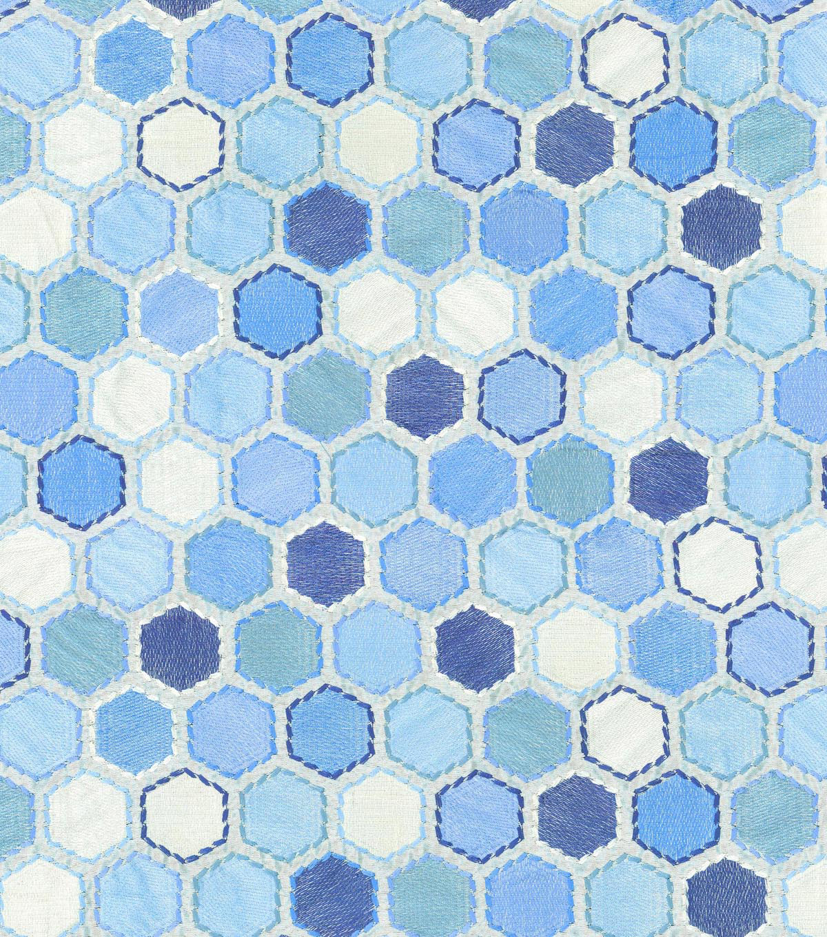IMAN Home Lightweight Decor Fabric 57\u0022-Gem Market Emb/Porcelain