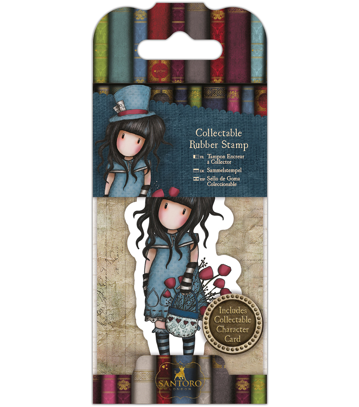 Santoro Rubber Stamps-No. 29, The Hatter