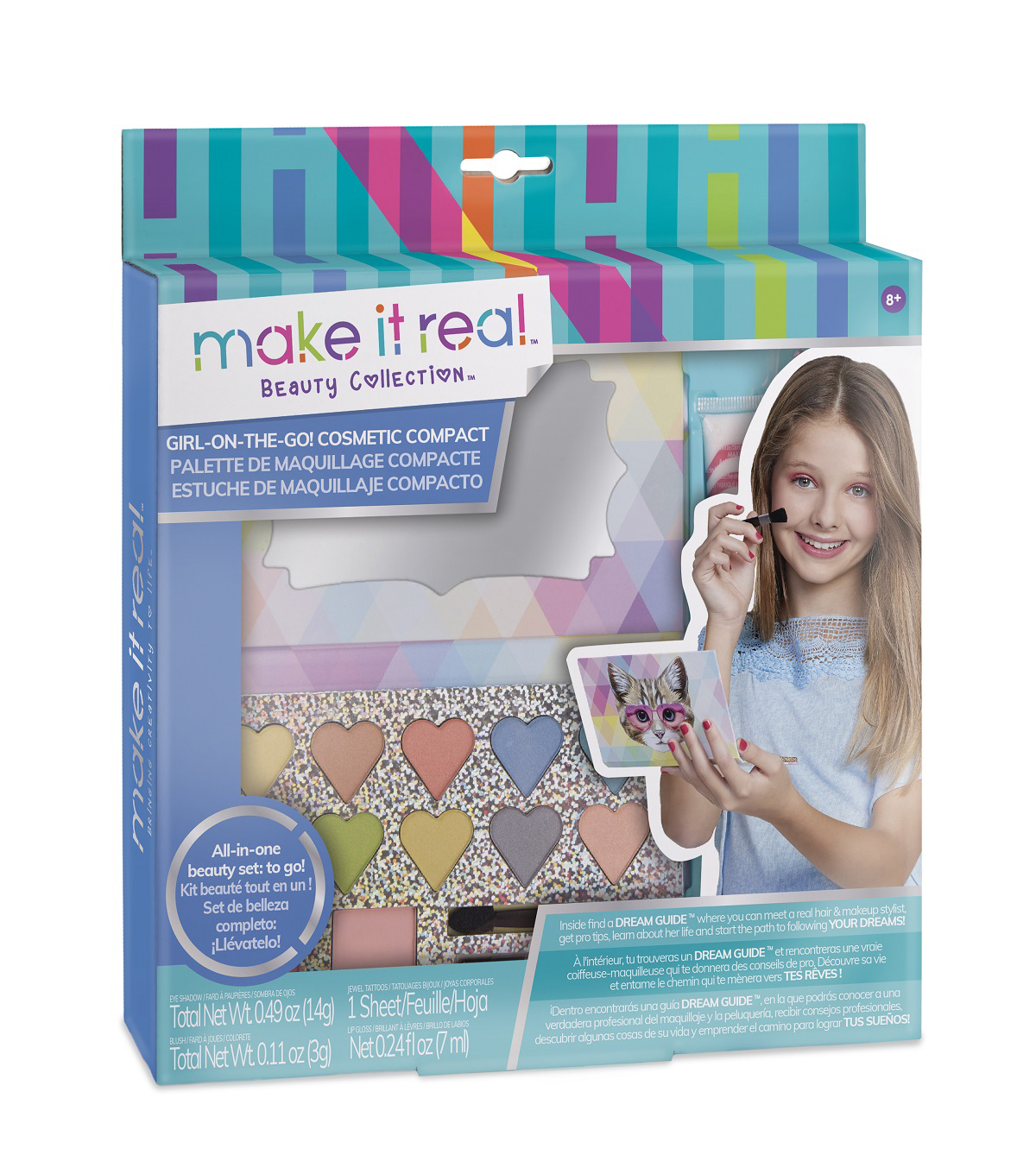 Make It Real Beauty Collection Girl-On-The-Go! Cosmetic Compact