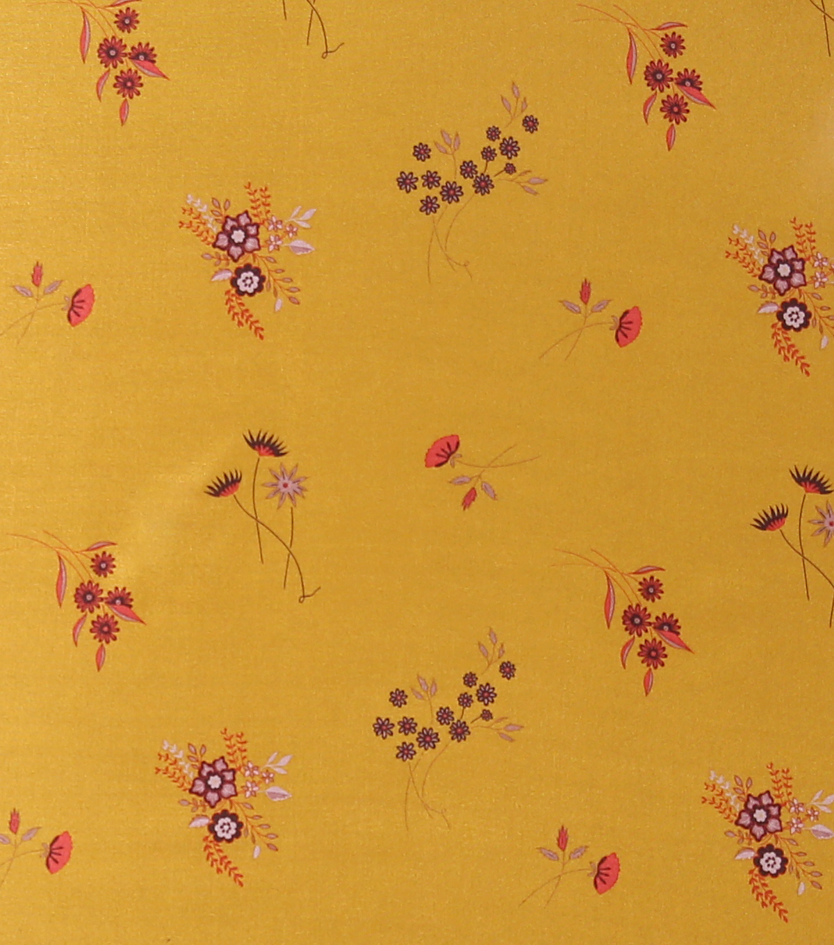 Downtown Collective Anti-Static Lining Fabric-Ditsy Floral on Yellow