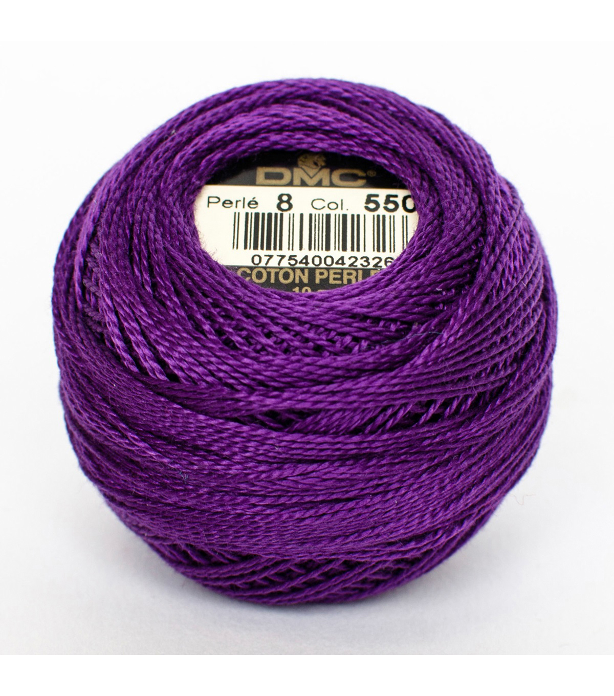 DMC Pearl Cotton Balls Thread 87 Yds Size 8, Very Dark Violet