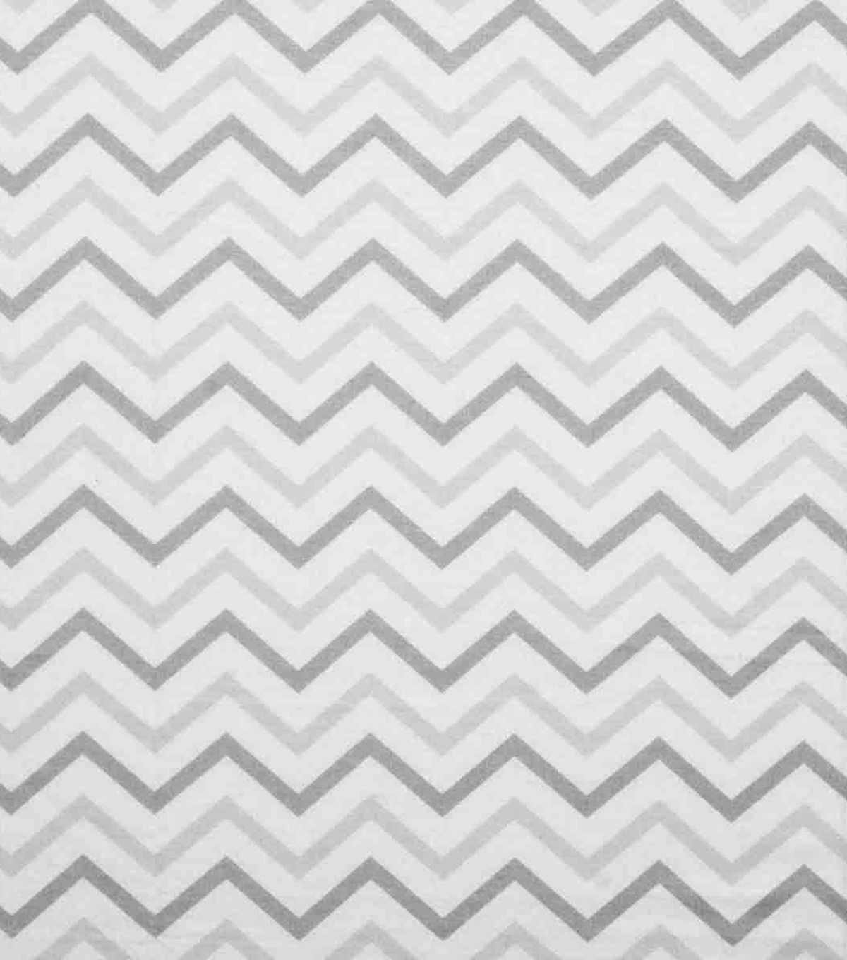 Super Snuggle Flannel Fabric-Chevron Gray